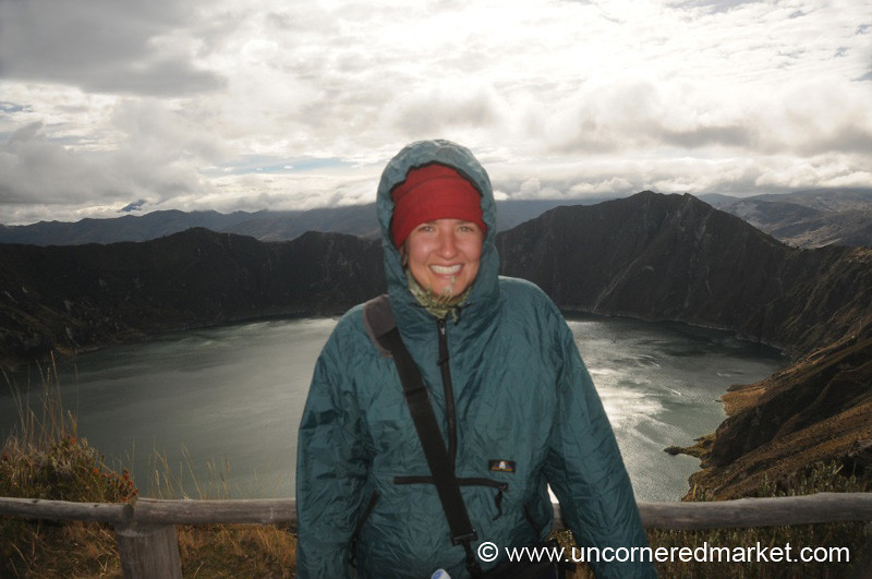 Cold and Windy - Lake Quilotoa, Ecuador