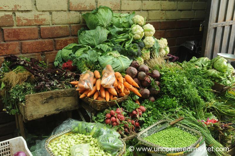 Stacks of Vegetables - Cuenca, Ecuador