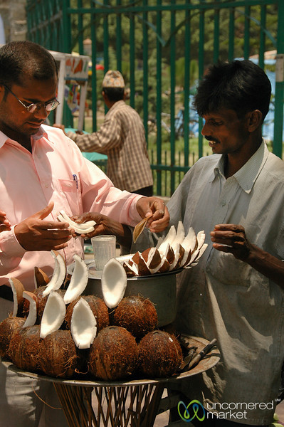 Refreshing Slices of Coconut - Kathmandu, Nepal