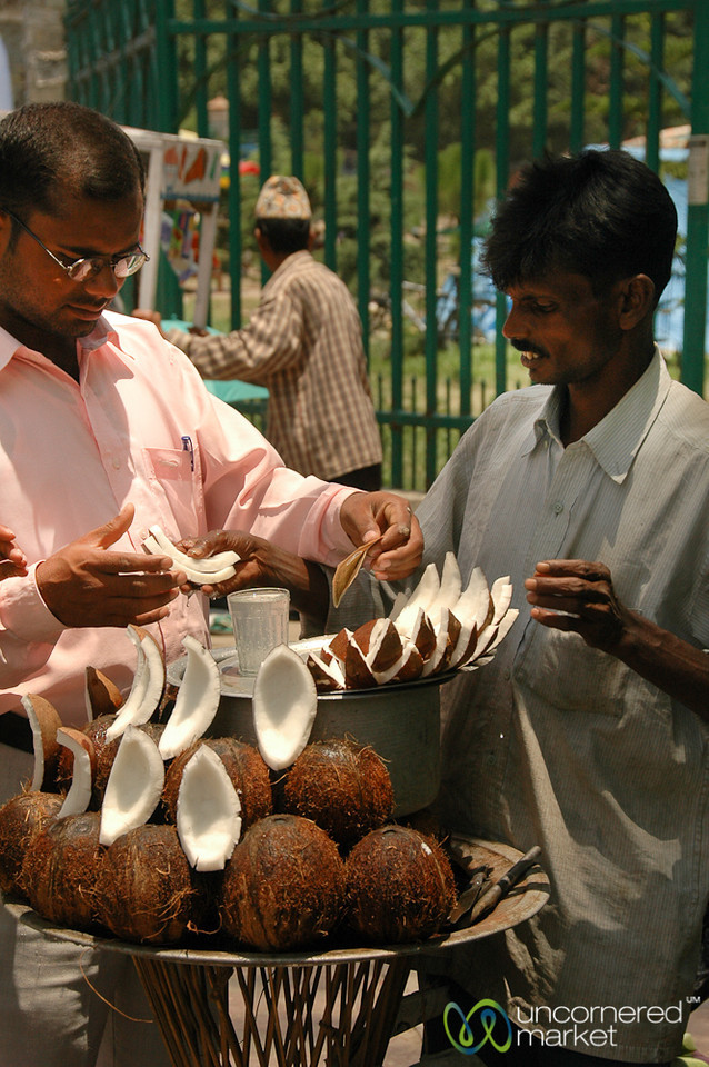 Refreshing Slices of Coconut - Kathmandu, Nepal
