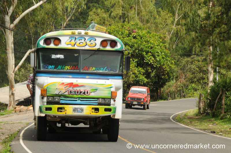 The Bus on the Highway - Perquin, El Salvador