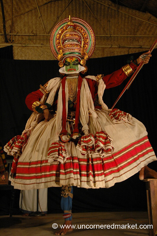 Kathakali Dancing in Kochi, India