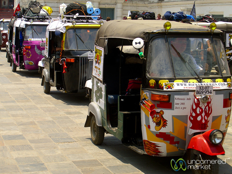 And They're Off! Rickshaw Run from Kathmandu to Pondicherry