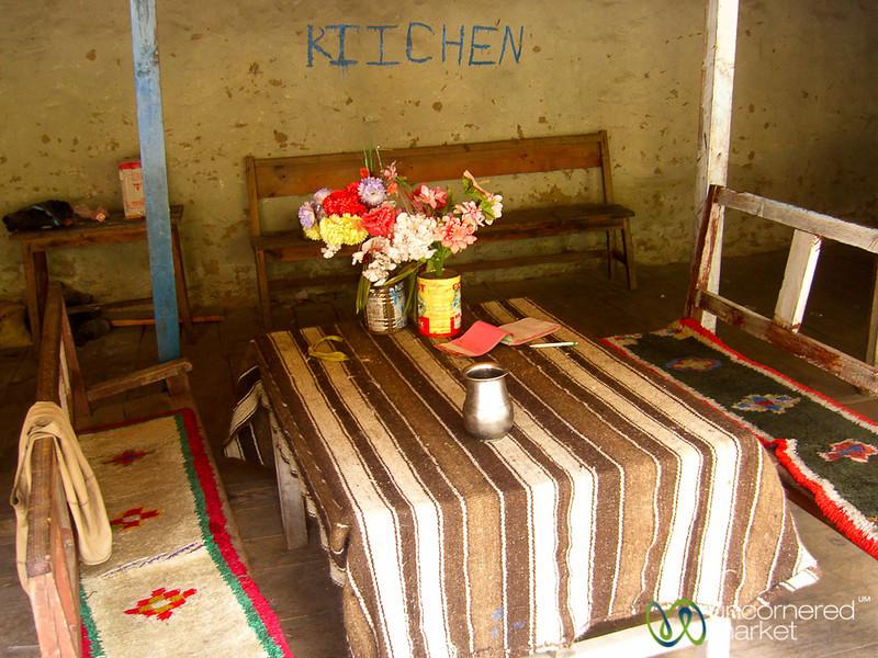 Breakfast Table Along the Annapurna Circuit - Nepal