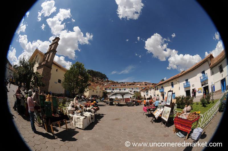 Crafts Market at Plaza San Blas - Cusco, Peru