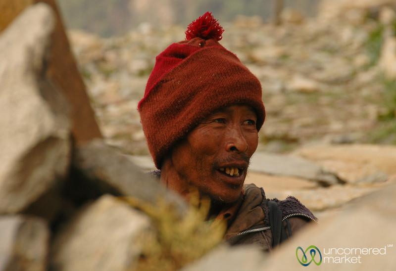 Weathered Face - Annapurna Circuit, Nepal