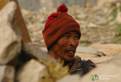 Weathered Face - Annapurna Circuit, Nepal