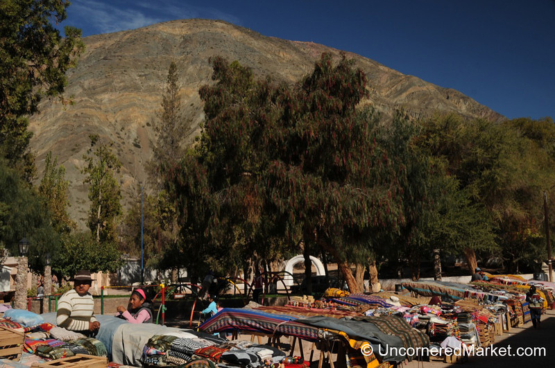 Vendors on the Main Square of Purmamarca, Argentina
