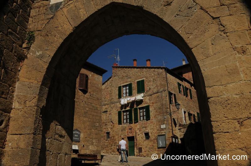 Entering Monticchello - Tuscany, Italy