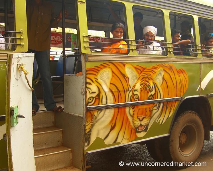 Tiger Bus - Kollam, India