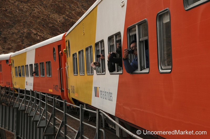 Tourists Snapping Photos on the Tren a las Nubes - Northwestern Argentina