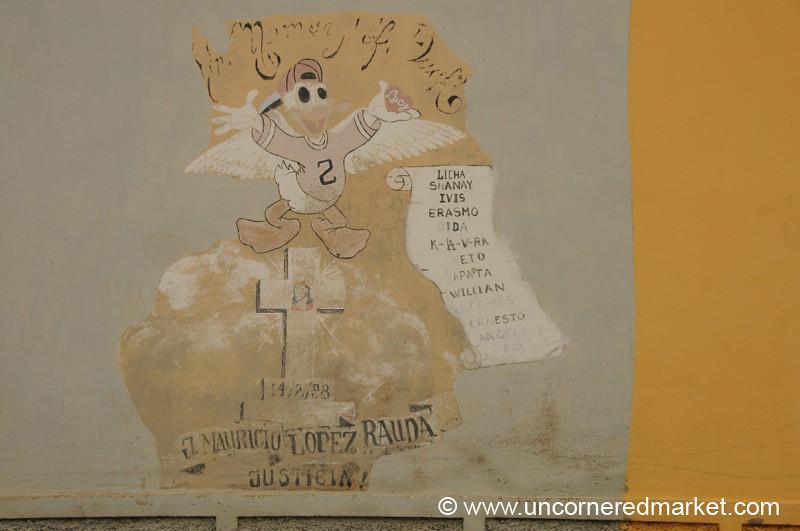 Donald Duck Mural - Suchitoto, El Salvador