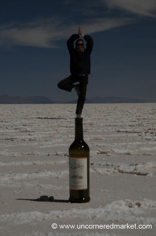 Audrey's Salt Yoga - Salar de Uyuni, Bolivia