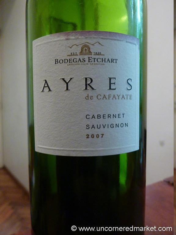 A Good Bottle of Cafayate Wine - Argentina