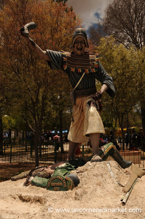 Tearing The Heart Out of Conquistador - Tarabuco, Bolivia