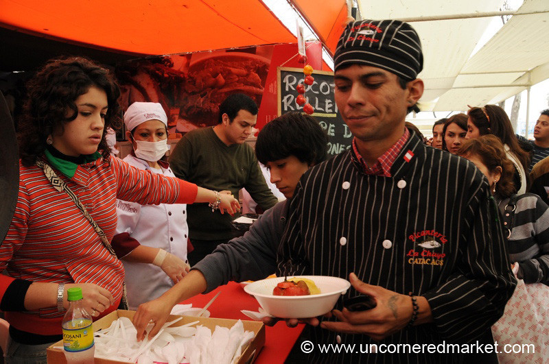 Trying Out the Competition - Mistura Gastronomy Festival in Lima, Peru