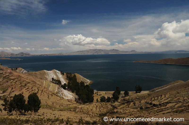 Dry Landscape of Isla del Sol - Lake Titicaca, Bolivia