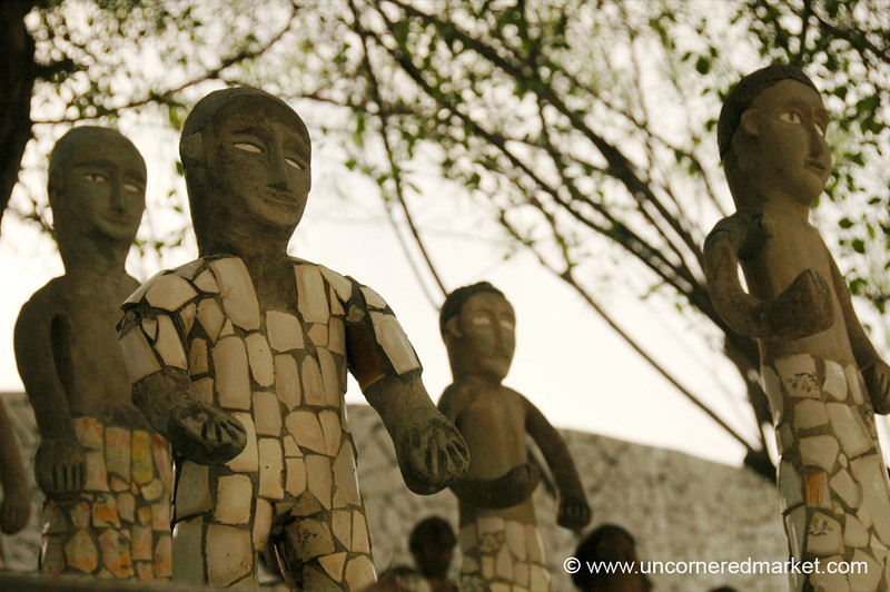Sculptures at Nek Chand's Rock Garden - Chandigarh, India