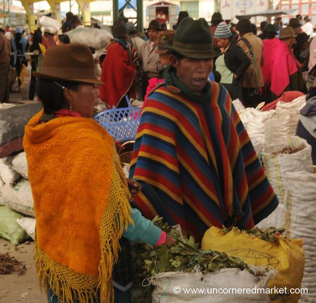 Selling Greens - Saquisili, Ecuador