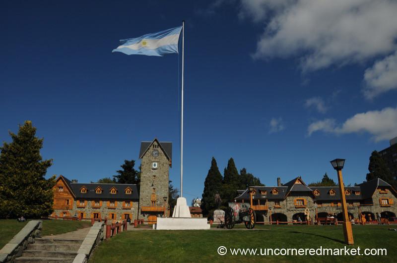 Main Square in Bariloche, Argentina