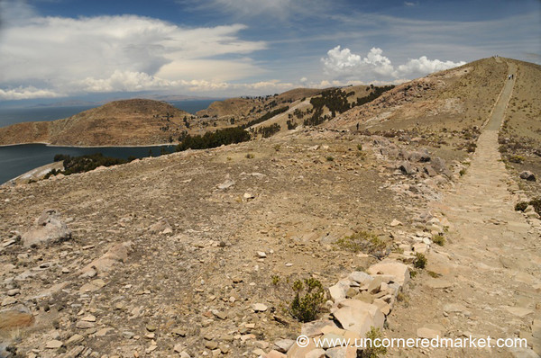 Walking Along Isla del Sol - Lake Titicaca, Bolivia