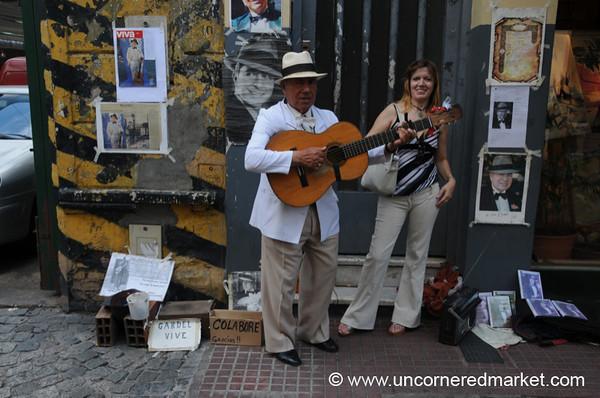 Street Musician at San Telmo's Sunday Market - Buenos Aires, Argentina