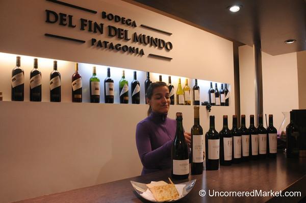Wine Tasting at Bodega del Fin del Mundo in Patagonia, Argentina