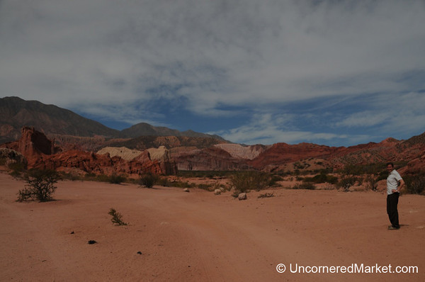 Audrey Takes in the Scenery of Northwestern Argentina