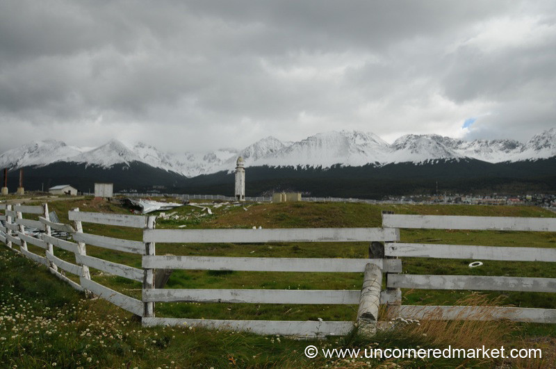View of the Martial Mountains outside Ushuaia, Argentina