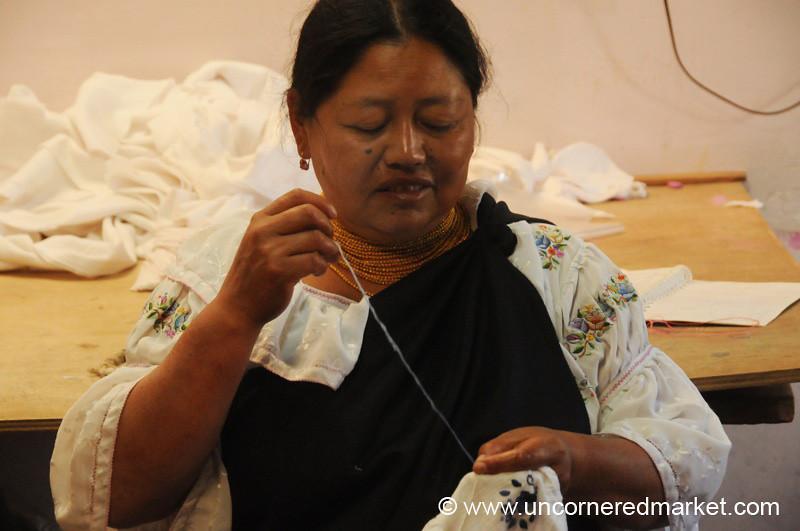 Sewing Away - Otavalo, Ecuador