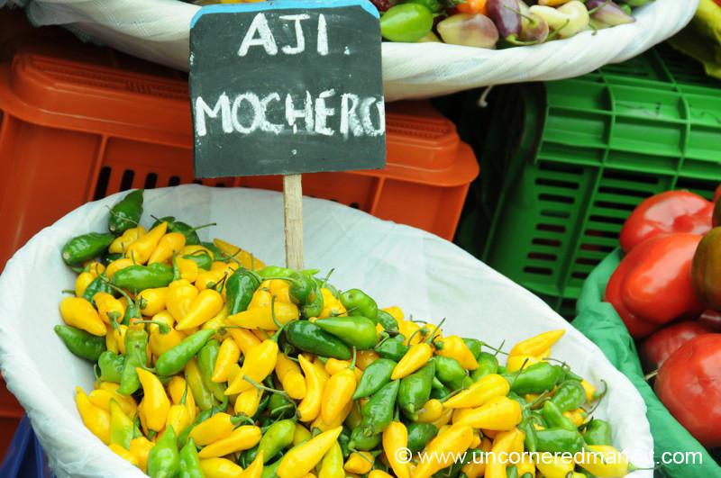 Yellow and Green Mochero Chilies - Mistura Gastronomy Festival in Lima, Peru