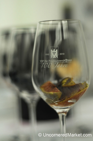 Smelling Fig in a German Wine - Berlin, Germany