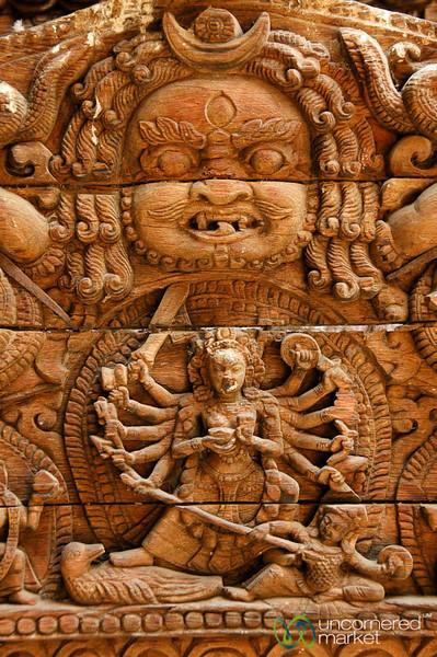 Religious Engravings - Kathmandu, Nepal