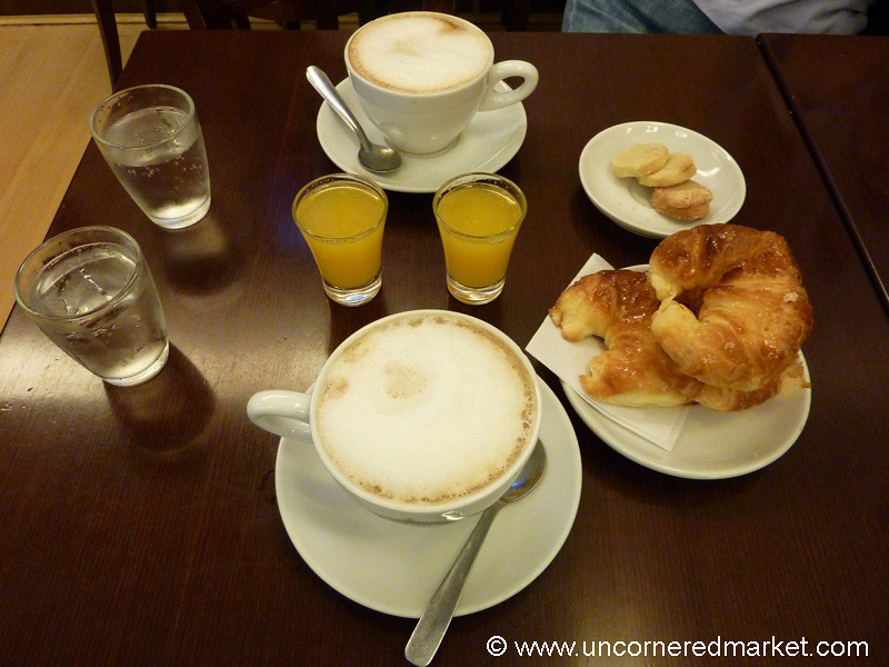 Coffees and Medialunas in Buenos Aires, Argentina
