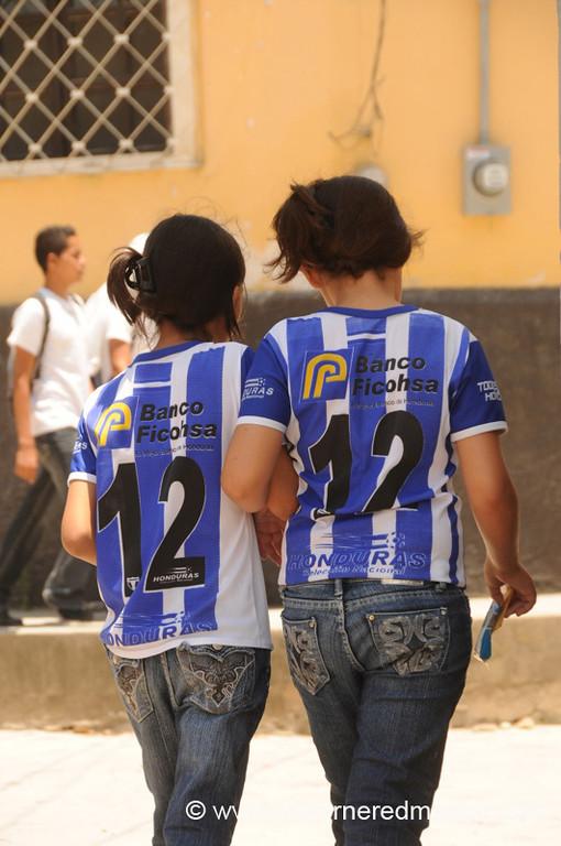 Young Honduran Football Fans - Gracias, Honduras