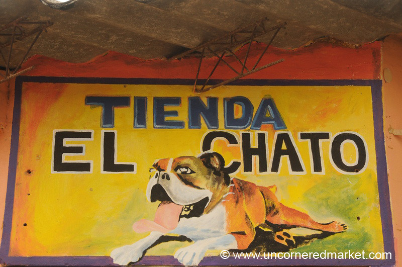 Bulldog Shop Sign - Ataco, El Salvador