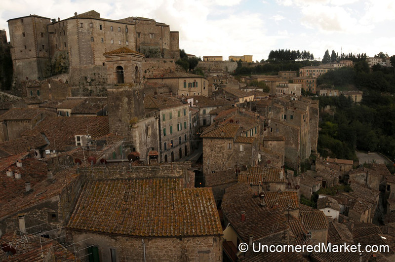 Layers of Sorano's Rooftops - Maremma, Tuscany
