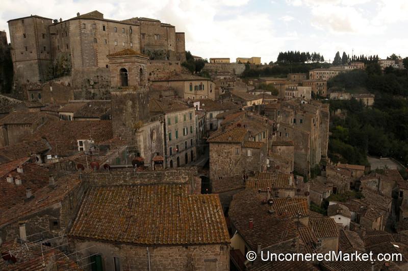 Layers of Sorano's Rooftops - Maremma, Tuscany