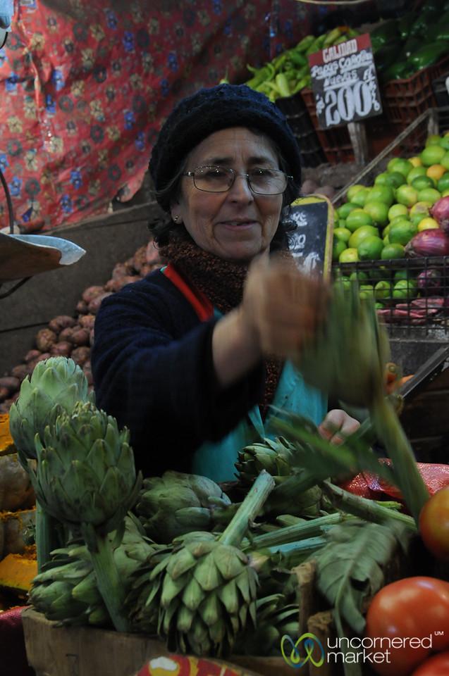 Artichokes, Audrey's Favorite Vegetable - Valparaiso, Chile