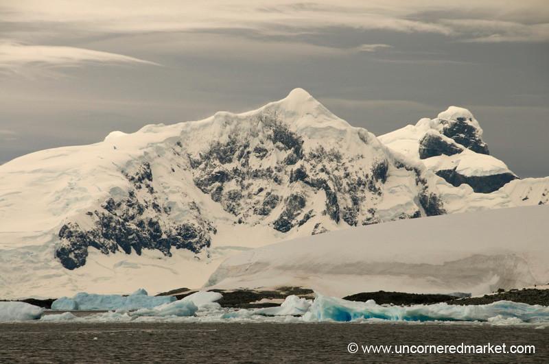 Blue Ice, White Snow - Antarctica