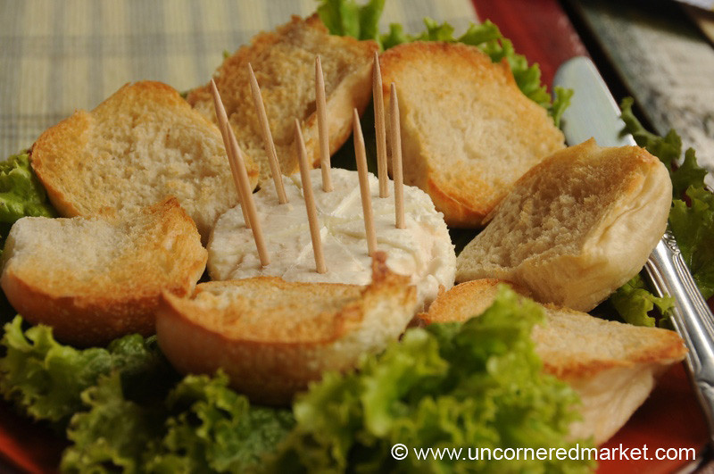 French Goat Cheese and Toast - Ataco, El Salvador