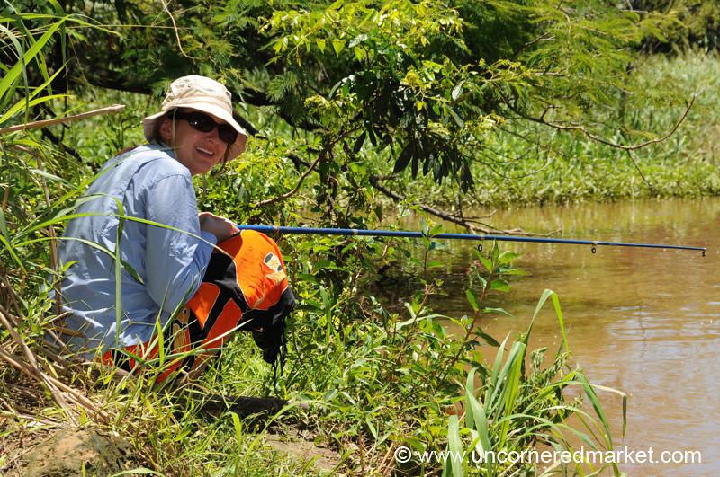 Audrey Tries to Fish - Concepcion, Paraguay