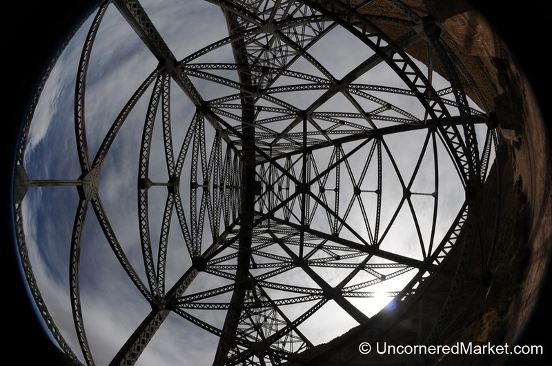 Looking Up at the Polvorilla Viaduct - Northwestern Argentina