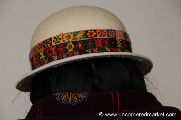 Indigenous Bowler Hat - Sucre, Bolivia