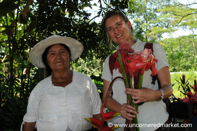 Smiles and Tropical Flowers - Cochabamba, Bolivia