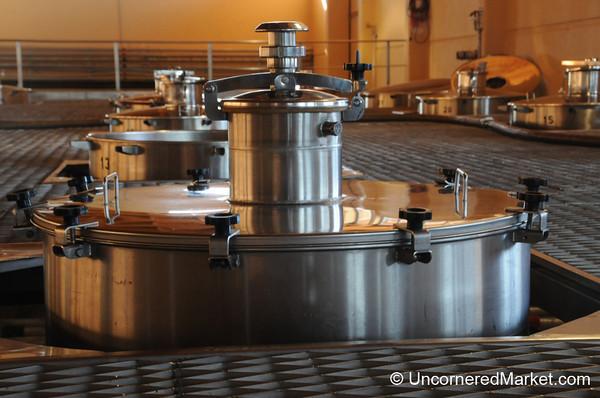 Fermentation Tanks at Bodega Familia Schroeder outside Neuquen, Argentina