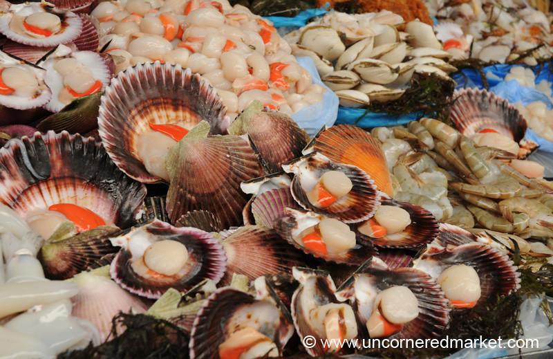 Bountiful Shellfish at Surquillo Market - Lima, Peru