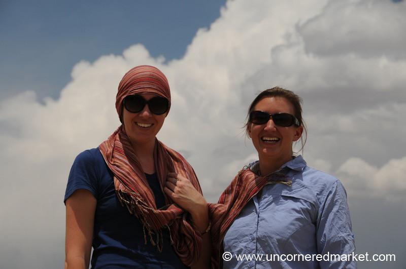 Gaea and Audrey - Salar Tour, Bolivia