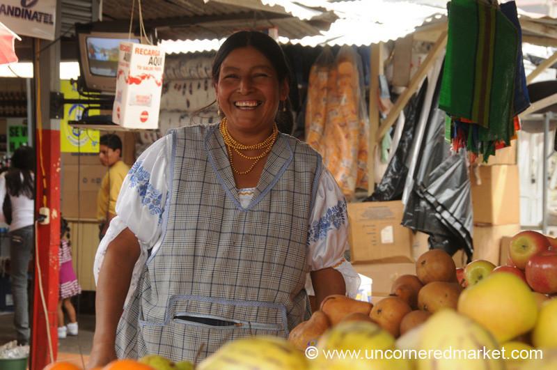 Selling Lots of Fruit - Ibarra, Ecuador