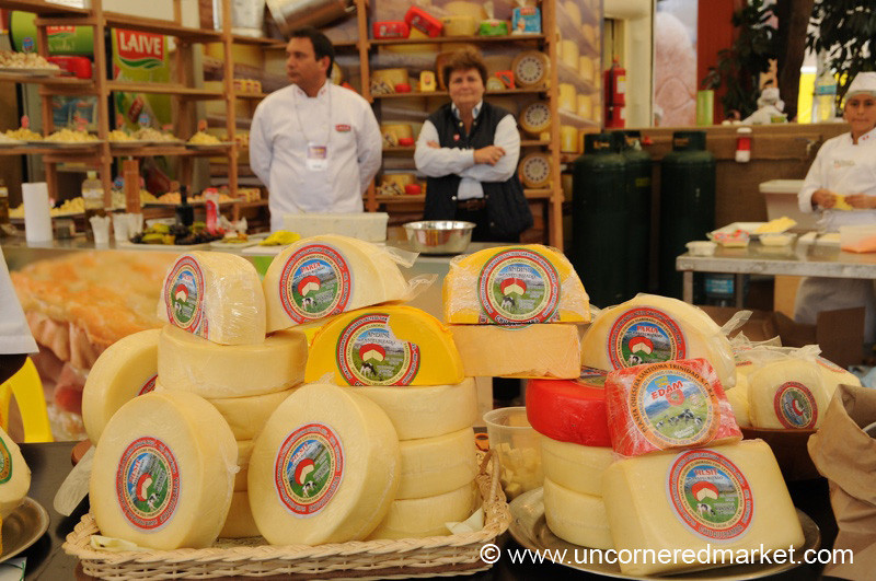 Grand Dislpay of Cheese - Mistura Gastronomy Festival in Lima, Peru